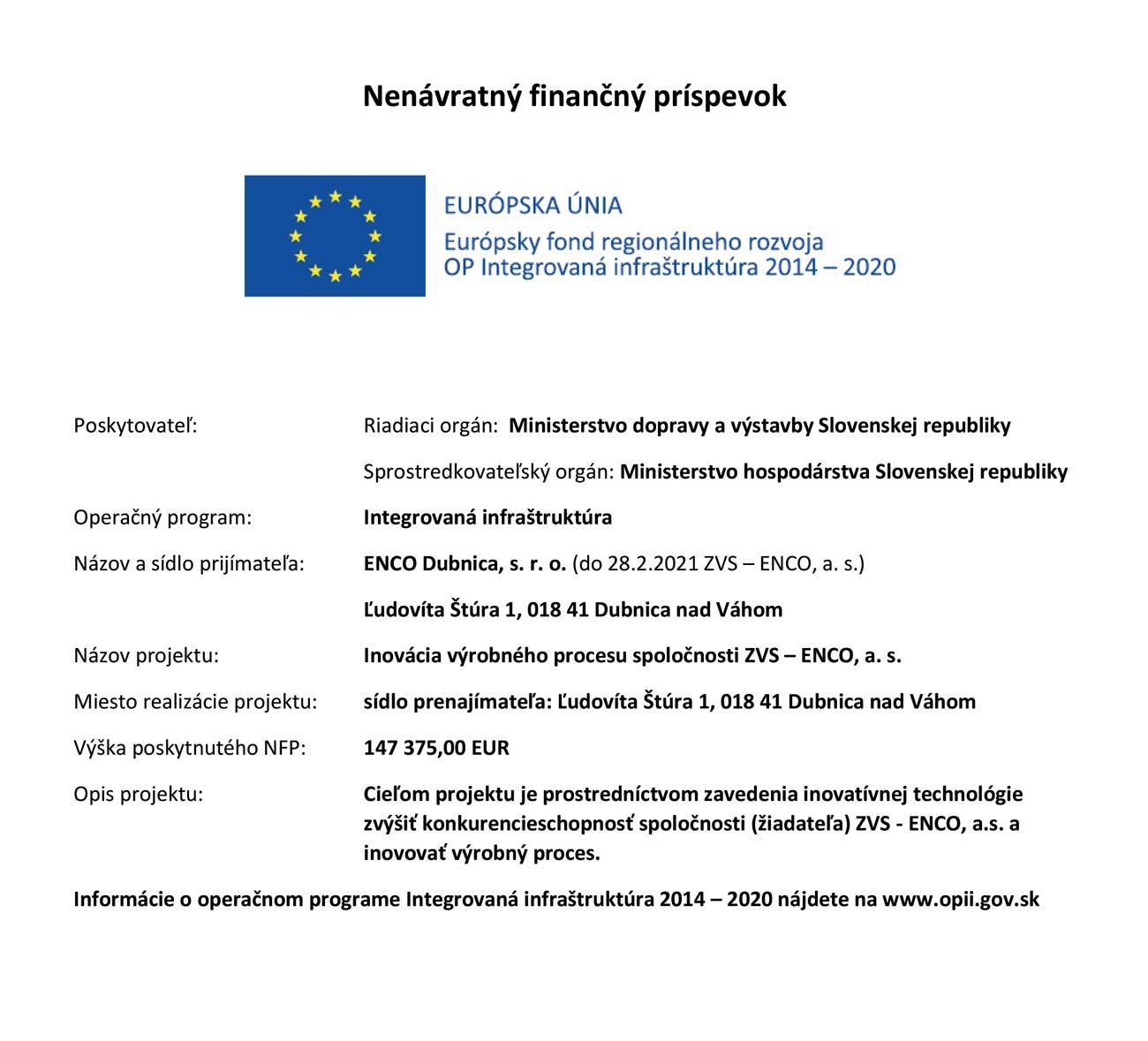 EÚ projekt ENCO DUBNICA